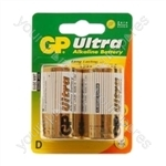 GP Ultra Alkaline Batteries - Type D