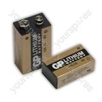 GP CRV9-C1 9V Lithium Battery (Card Of One) - Type CRV9