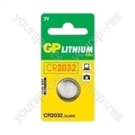GP Lithium Button Cell Blister of 1 - Type CR2032-C1