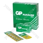 GP Alkaline Button Cell Strip of 10 - Type GPA76-C10