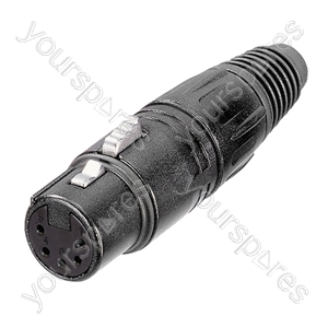 Neutrik NC5FX-BAG Female 5 Pin XLR Line Connector With Silver Plated Contacts