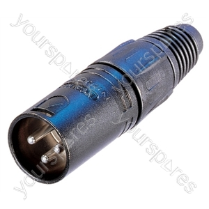 Neutrik NC3MX-B Male 3 Pin XLR Line Plug With Gold Plated Terminals