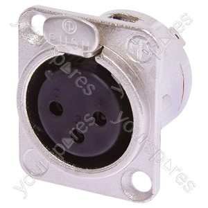 Neutrik NC3FD-L-0-1 Female 3 Pin XLR Chassis Socket