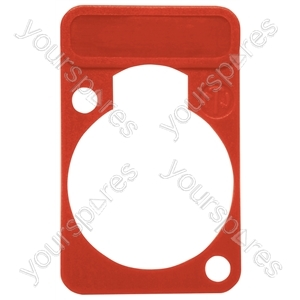 Neutrik DSS0XLR Coloured Lettering Plate - Colour Red