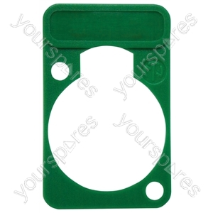 Neutrik DSS0XLR Coloured Lettering Plate - Colour Green
