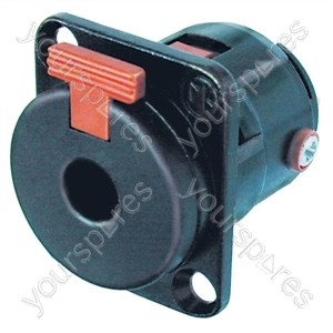 Neutrik NJFP6C-BAG 6.35 mm Locking Stereo Jack Chassis Socket With Silver Plated Terminals