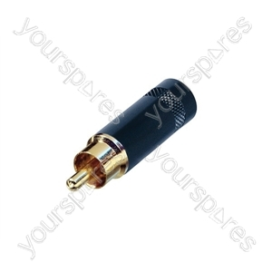 REAN NYS352 Metal Phono Plug With Gold Plated Terminals - Colour Black