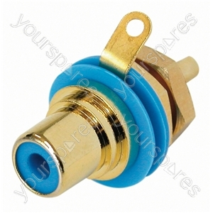 REAN  NYS367 Phono Chassis D Size Socket With Gold Plated Contacts and Colour Code - Colour Blue