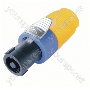 Neutrik NL4FX Standard 4 Pole Speakon Cable Connector and Colour Code - Colour Yellow