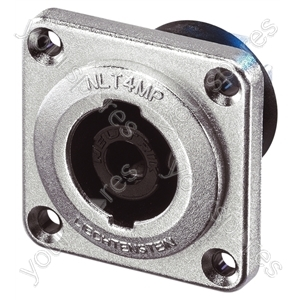 Neutrik NLT4MP 4 Pole Metal Speakon Chassis Socket With Copper Plated Terminals