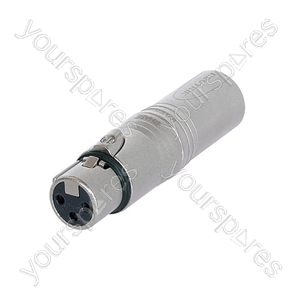 Neutrik NA3FMX 3 Pin Male to 3 Pin XLR Female  Phase Inverter Adaptor