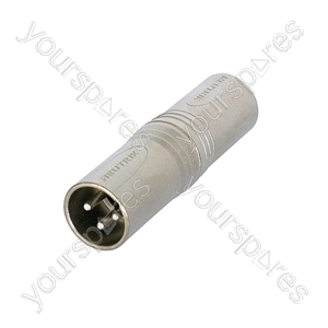 Neutrik NA3MM 3 Pin XLR Male to 3 Pin XLR Male Adaptor/Coupler