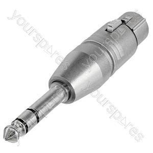 Neutrik NA3FP 3 Pin XLR Female to 6.35mm Stereo Jack Plug Adaptor