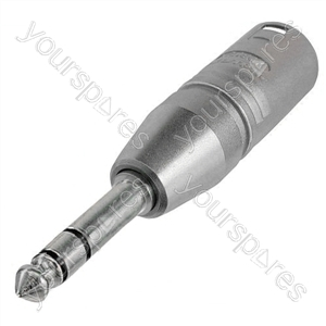 Neutrik NA3MP 3 Pin XLR Male to 6.35mm Stereo Jack Plug Adaptor