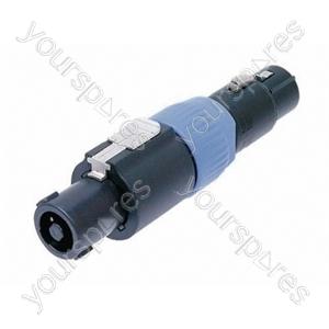 Neutrik NA4FC-F 4 Pole Speakon Cable Connector to 3 Pole Female XLR