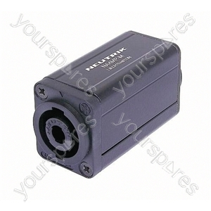 Neutrik NA4MP-M 4 Pole Speakon Chassis Connector to 3 Pole Male XLR Chassis