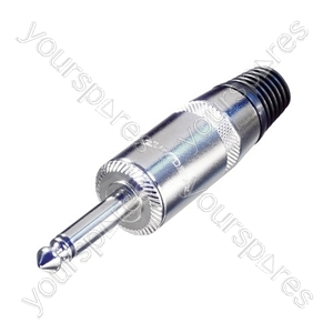 REAN NYS225L 6.35 mm Mono Jumbo Loudspeaker Jack Plug with 10 mm Diameter Cable Entry