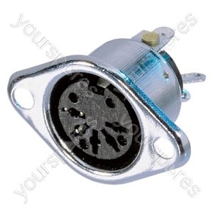 REAN NYS324 3 Pin Female DIN Chassis Socket With Silver Plated Contacts - Number of Pins 3