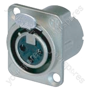 Neutrik NC3FDLX Female 3 Pin XLR Chassis Socket