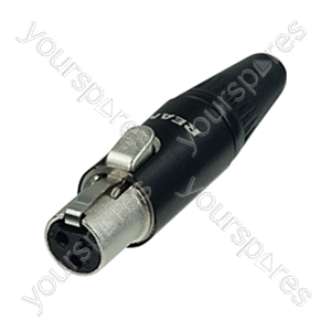 REAN RT3FC-B Mini Female 3 Pin XLR Line Connector