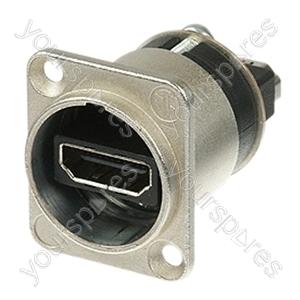 Neutrik NAHDMI-W HDMI 1.3 Feed through Adaptor with D-Shape Housing