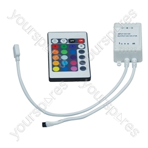 NJD Handheld 24 Key Infrared Controller and Interface for RGB LED Tape Light