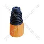 Neutrik BSX XLR Back Boot - Colour Orange