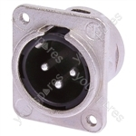 Neutrik NC3MDM3-L-1 Male 3 Pin XLR Chassis Socket