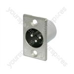 Neutrik NC3MP Male 3 Pin XLR Chassis Socket