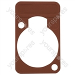 Neutrik DSS0XLR Coloured Lettering Plate - Colour Brown