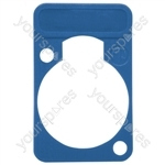 Neutrik DSS0XLR Coloured Lettering Plate - Colour Blue