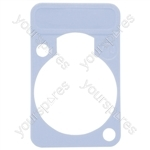 Neutrik DSS0XLR Coloured Lettering Plate - Colour Grey