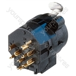 Neutrik NCJ5FIS Combo Female XLR + 6.35 mm Mono Jack Chassis Socket