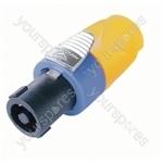 Neutrik NL4FX Standard 4 Pole Speakon Cable Connector and Colour Code - Colour Yellow