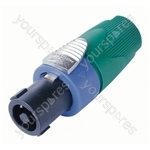 Neutrik NL4FX Standard 4 Pole Speakon Cable Connector and Colour Code - Colour Green