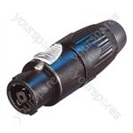 Neutrik NLT8FX-BAG 8 Pole Metal Speakon Plug