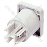 Neutrik NAC3MPB 3 Pin Male Powercon Mains Outlet Chassis