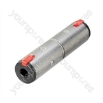 Neutrik NA3JJ 6.35 mm Stereo Locking Jack Socket to 6.35 mm Stereo Locking Jack Socket Adaptor