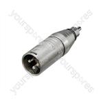 Neutrik NA2MPMM 3 Pin XLR Male to Phono Plug Adaptor