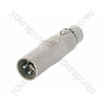 Neutrik NA3M5F 3 Pole Male XLR to 5 Pole Female XLR DMX Adaptor