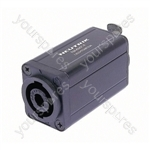Neutrik NA4MP-F 4 Pole Speakon Chassis Connector Chassis to 3 Pole Female XLR Chassis