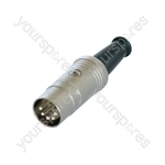REAN NYS321G 3 Pin DIN Plug with Rubber Boot and Gold Plated Contacts - Number of Pins 5