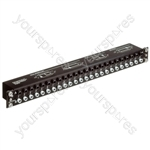 REAN Black NYS-SPPL 1/4 Jack 48 Way Patch Panel