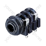 REAN NYS2122 Switched 6.35mm Mono switched Chassis Socket