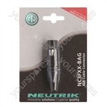 Neutrik Black NC3FXX-BAG-POS 3 Pin XLR Line Socket Connector Blister