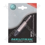 Neutrik Nickel NP3X-POS New Professional 3 Pole 6.35 mm Stereo Jack Plug Blister
