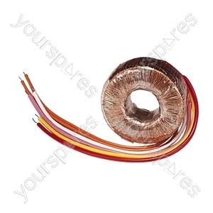 High Quality Toroidal Transformer - Outputs (V ac) 0-6, 0-6