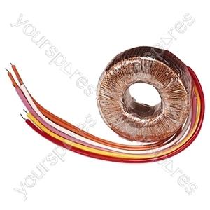 High Quality Toroidal Transformer - Outputs (V ac) 0-12, 0-12