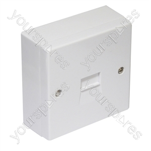 Surface Mounted 2/4A Master Telephone Socket with Screw Connections