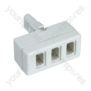 3 Way Telephone Adaptor (4 Wire)